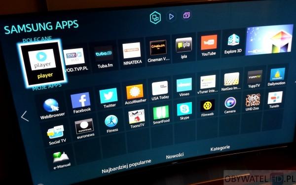 Samsung HU8500 - Samsung apps