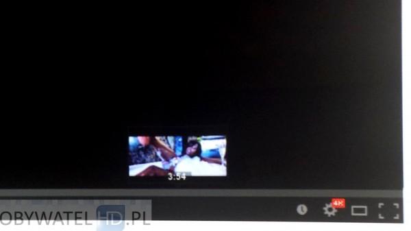 Samsung HU8500 YouTube w przeglądarce