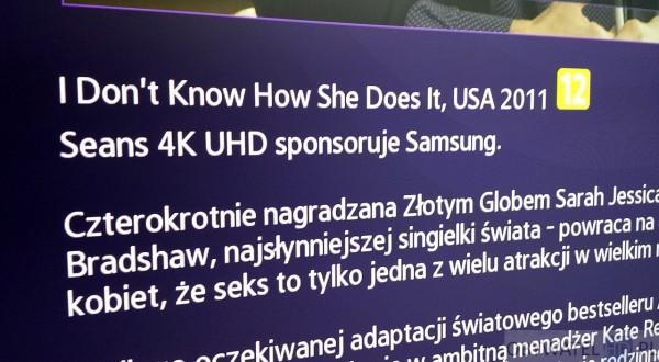 Samsung Strefa VOD UHD - Samsung sponsoruje