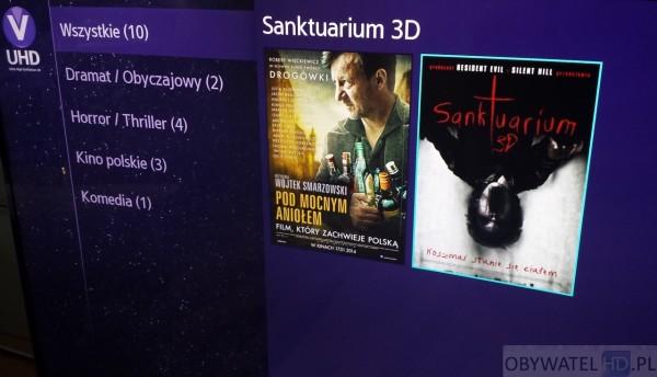 Samsung Strefa VOD UHD - Sanktuarium 3D