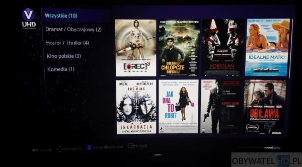 Samsung Strefa VOD UHD - katalog