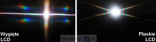 Wygięte LCD VS płaskie LCD - flesz
