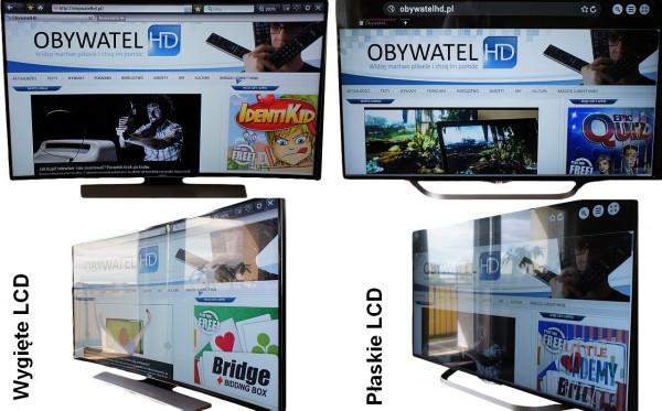 Wygięte LCD VS płaskie LCD - odbicia balkonu2