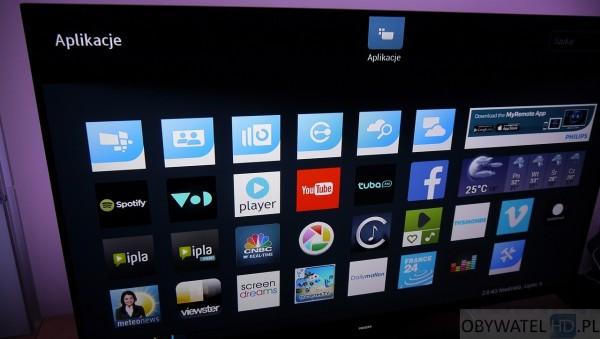 Philips PFS7509 - Smart TV Aplikacje