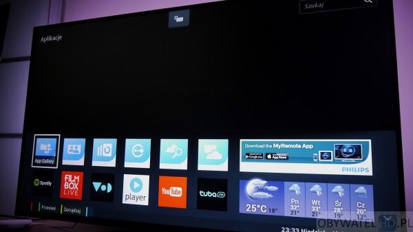 Philips PFS7509 - menu Smart TV
