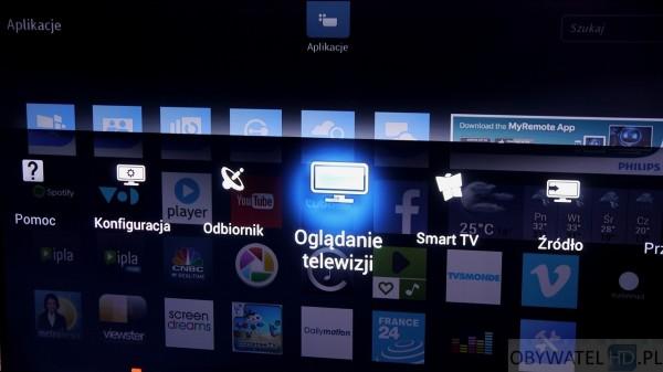 Philips PFS7509 - menu przezroczyste