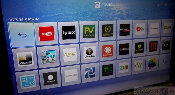 Toshiba L54 - Smart TV - aplikacje