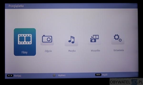 Toshiba L54 - menu główne