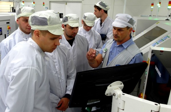 Galanta fabryka Samsunga - produkcja płyt głównych