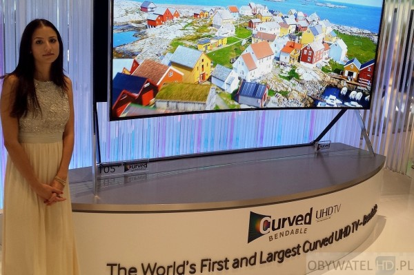 IFA 2014 - Samsung 105 LCD bendable