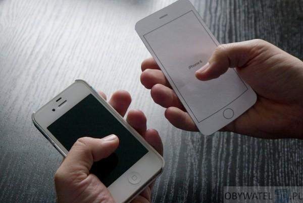 iPhone 4S i iPhone 6 w rękach