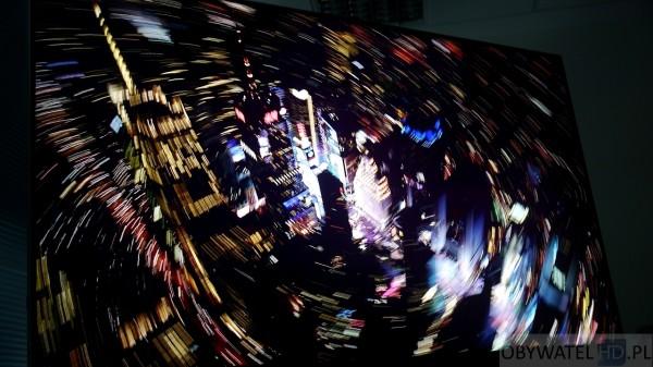 Panasonic AX900 - miasto w nocy