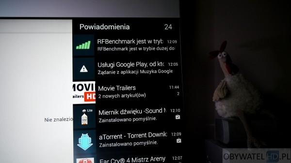 Android TV - powiadomienia