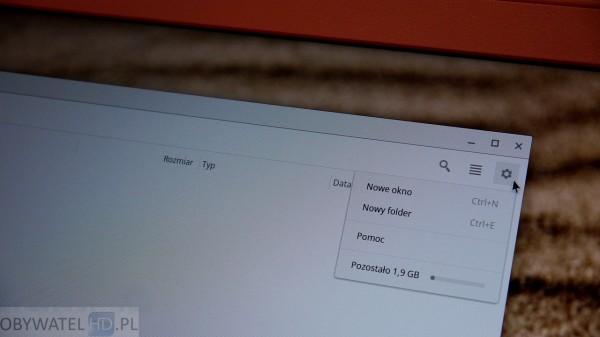 Google Chrome OS - Acer Chromebook pamięć