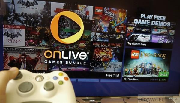 Cloud Gaming - OnLive na telewizorze z padem