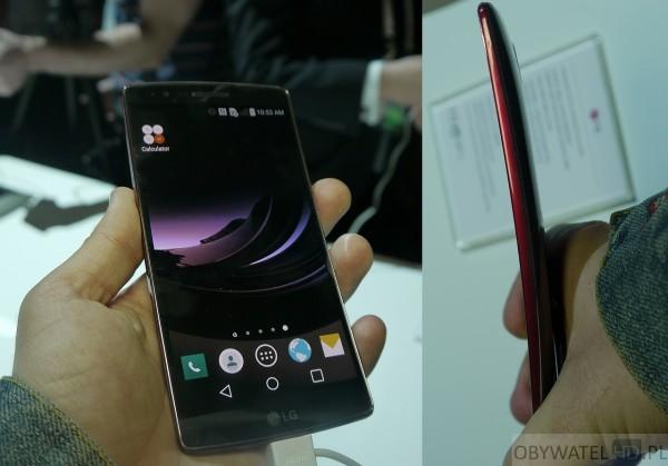 LG G Flex 2 ekran i wygięcie