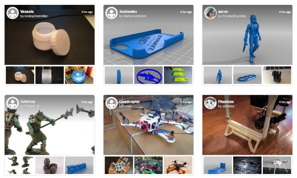 Projekty 3D ze strony Thingiverse