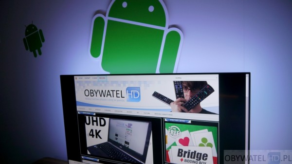 Philips Android TV - przeglądarka www