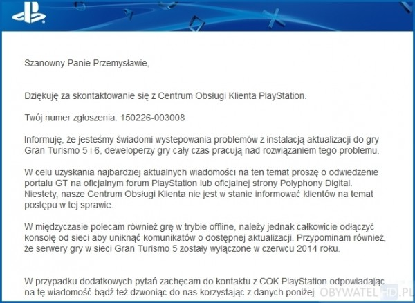 PlayStation Support - Polska