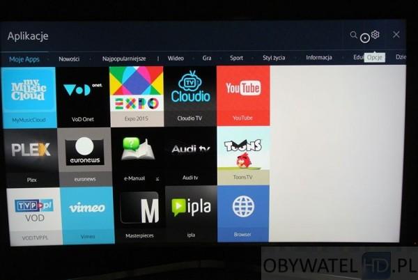 Samsung JS9000 - moje apps