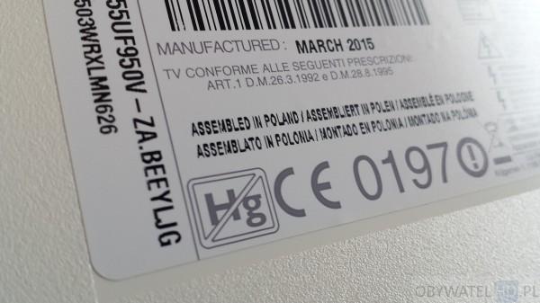 LG UF950V - Assembled in Poland