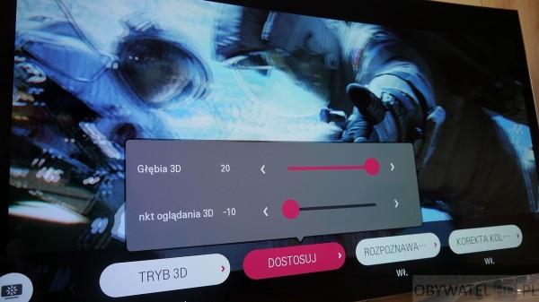 OLED LG EC930V - Głębia 3D ustawienia