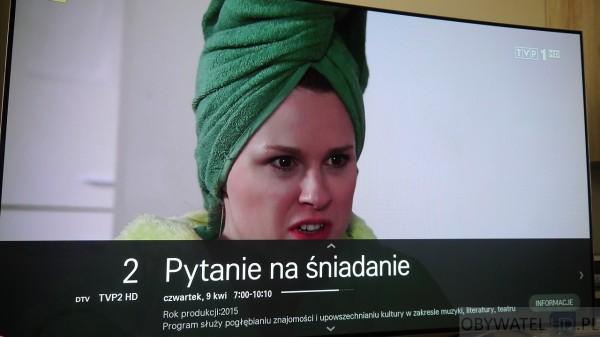 OLED LG EC930V - TV informacje o kanale