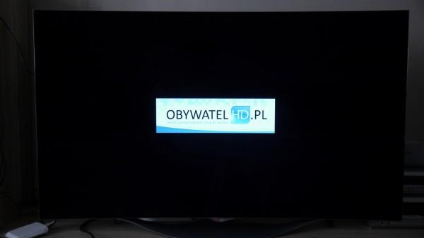 OLED LG EC930V - podświetlenie logo