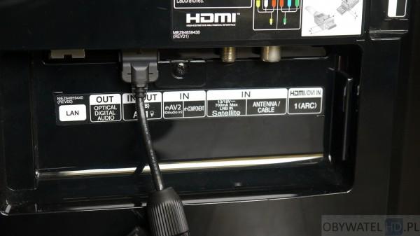 OLED LG EC930V - złącza