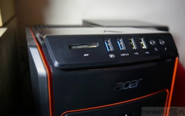 Acer Predator G3 - USB i czytnik kart