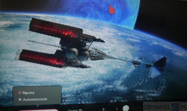 LG UF950V - 3D Avatar ustawienia Ręczne