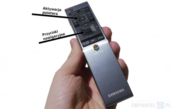 Samsung JS9000 - pilot - pointer i przyciski nawigacyjne