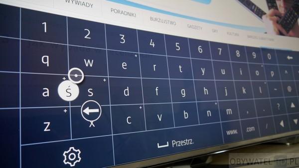 Samsung JS9000 - www polskie znaki