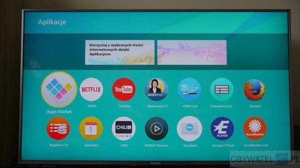 Panasonic CX700 - Firefox OS menu aplikacji