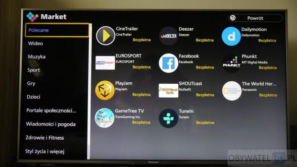 Panasonic CX700 - Firefox OS sklep aplikacji