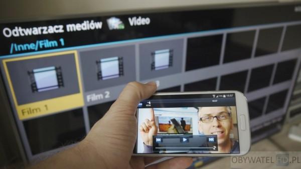 Panasonic CX700 - TV Remote 2 - odtwarzanie multimediów z TV