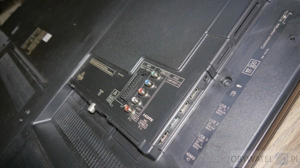 Panasonic CX700 - złącza
