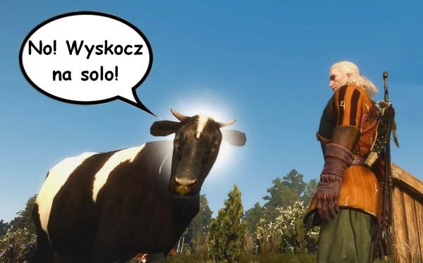 Wiedźmin 3 - Krowy wyskocz na solo