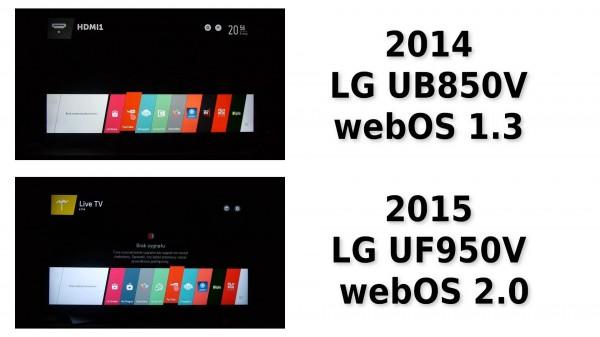 webos 1.3 vs webos 2.0