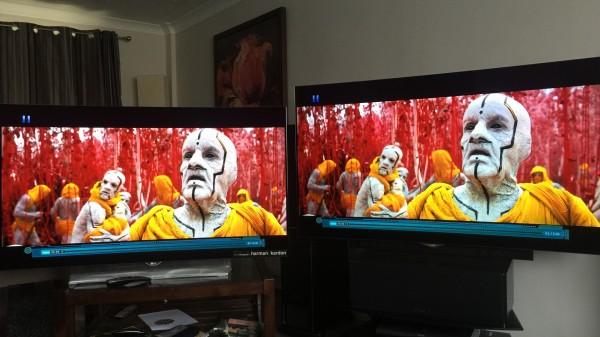 LG 960 (po lewej) vs 930 (po prawej) Fot. displayandsoundcalibration.com
