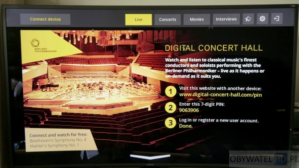 Samsung Tizen TV - Smart TV - Filharmonia w Berlinie