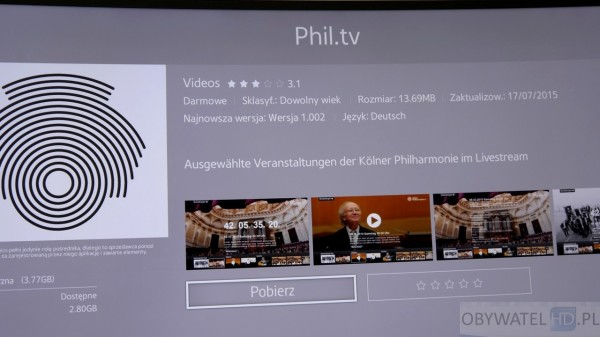 Samsung Tizen TV - Smart TV - Filharmonia w Kolonii