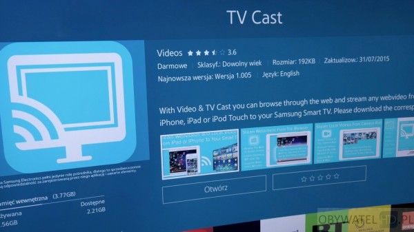 Samsung Tizen TV - Smart TV - TV Cast