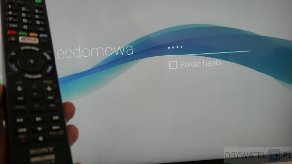 Sony W755C - brak klawiatury ekranowej