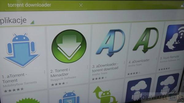 Torrenty z telewizora - aDownloader w Google Play