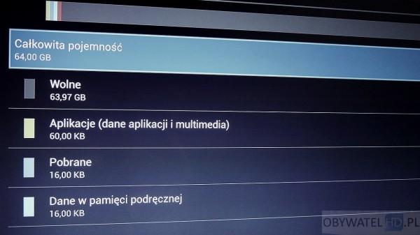Torrenty z telewizora - dysk 64 GB na pliki