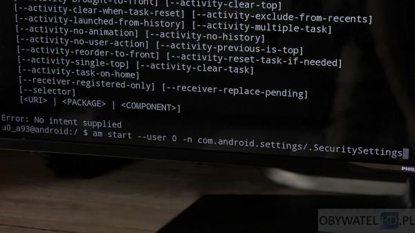 Torrenty z telewizora - modyfikacja Security Settings