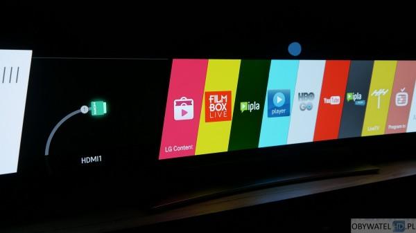 LG EG960V OLED 4K - webOS - dolna belka 1