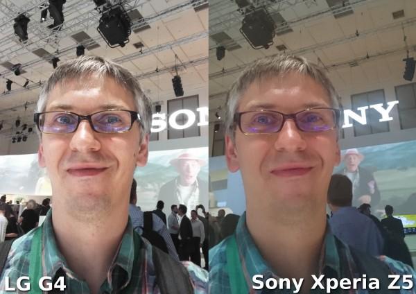 LG G4 vs Sony Xperia Z5 - selfie