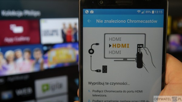 Philips PFH5500 - aplikacja Chromecast
